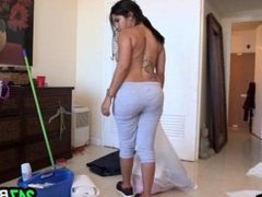 Big ass Cuban Chick Cleans And Gets Fucked.3
