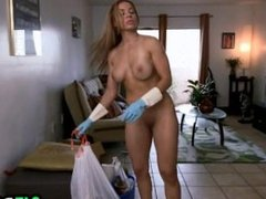 Latina maid fucked after cleaning.05