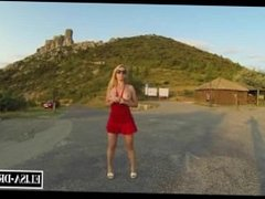Flashing nude in a turistic place
