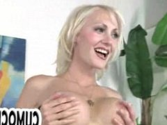 Blonde big tit blowjob