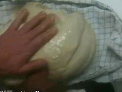 Uncut big cick fucking dough