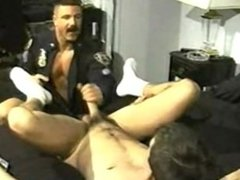 Smoking Muscle Daddy Cop Fucks His Boy