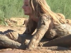 Girls in mud