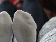 Sexy white socks tease