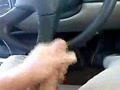 cumming in work truck