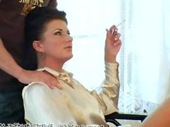 Massage the smoking boss - Celine Noiret