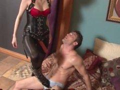 Goddess Kyaa Ballbusting and Face Fucking SISSY TRAINING FEMDOM STRAPON