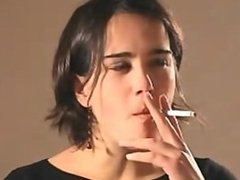 Alejandra Black Smoking