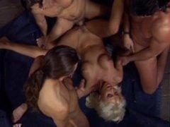 Beautiful Blond Bitch DP threesome, Helen Duval