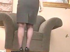 MILF Masturbating In The Office