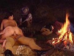 "Monica Roccaforte vintage outdoor sex scene: ""Carovana Della Violenza"""