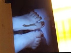 Huge load on brazilian amateur feet NANDA PEZINHOS xxx cams mr sex