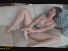 Webcam girl stuffs tight pussy with TWO DILDOS! - fapdcams.com