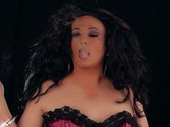 Sissy Tia Smokes On Black