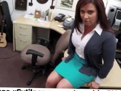 Real Spycam - MILF sells her husband's stuff for bail - pawn.reality3x.com