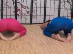 Yoga turn into foot worship