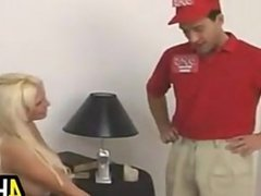 Blonde Cougar Fucks The Delivery Man