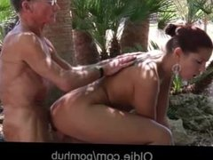 Big dick old man satisfy his young nympho girlfriend