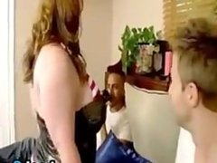 Large Woman In A Threesome