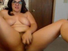 Hairy bush vagina mom Violet Ness with sexy glasses