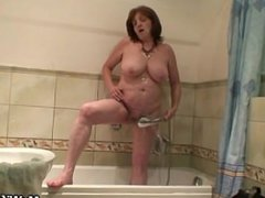 Horny son in law bangs her after shower