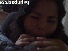 Malaysian girl giving a blowjob to her boyfrien