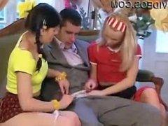 Teen Threesome with Dildo