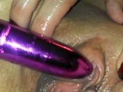 toyed pussy squirts