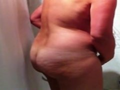 Hidden cam of sexy busty amateur MILF taking a shower part1 free live sex c