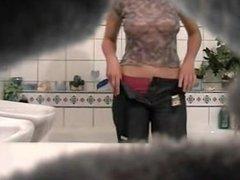 Hidden cam, spycam, bathroom cam, teen, tits live sex show   Gapingcams.com