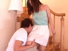 Busty Asian Girl Getting Her Tits Rubbed And Fucked Fingered While Standing