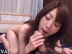 Sexy Japanese girl giving good fellatio japan-adult.com/pornh