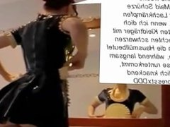Latex Maid Luder I Scheiss Transvestitenschweine mit Hausmüll ausrotten