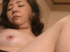 Mature Woman Getting Her Hairy Pussy Fucked With Toy By Her Husband On The