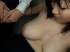Busty Office Lady Getting Her Tits Rubbed Pussy Fucked From Behind By Guy I