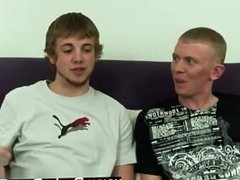 Twink movie Sean and Mike lay side by side, jacking themselves off