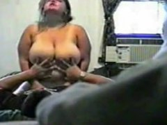 Horny Fat BBW Ex GF with Big Tits riding cock on Hidden Cam free live webca