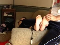 Ashley Sofa Foot tickling