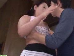 Busty Japanese milf does cock sucking japan-adult.com/pornh