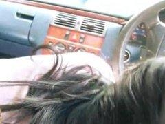 Amazing teen gives road head
