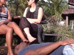 Persian Bossy mistress dirty feet worship