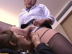 Stewardess Licked And Fingered While Standing By Other Stewardess In The Ho