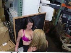 Real Spycam Sex - Lesbians Pawn Their Asses Into FFM 3Some - Reality3x.com
