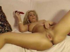 Erotic girl masturbates intensely