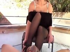 Mommy's Foot Boy Cum Inside My Stockings!