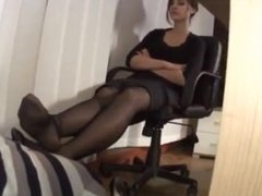 Office Boss Lady Foot Worship