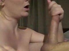amateur blowjob and ball licking