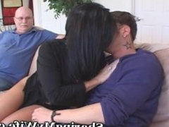 Mature Housewife Seduces Younger Man To Turn On Hubby