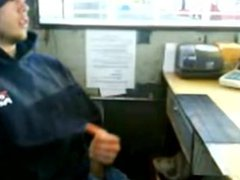 Staight Man Beats off at Work, Caught on Cam