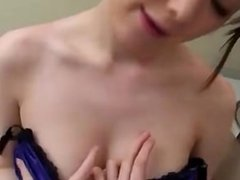 Busty Office Lady Giving Blowjob Rubbing Guy Cock With Her Tits Cum To Boob